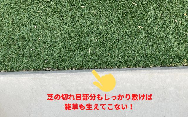人工芝は防草シート付きがおすすめ!7